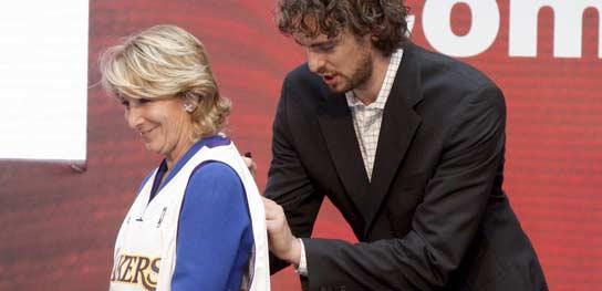 Pau Gasol, premiado en Madrid.