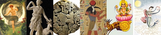 Por orden, los dioses que simbolizan la luna: Selene, Diana, Coyolxauhqui, Toth y Soma. Por último, leyenda de Chang O.