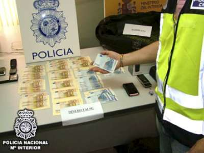 Billetes falsos incautados por la Policía Nacional