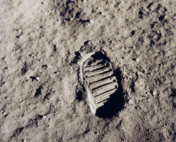 Huella de Aldrin en la Luna