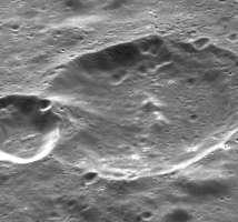 Imagen de los cráteres lunares fotografiados por la SMART-1.