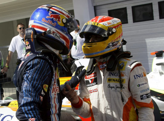 Mark Webber y Fernando Alonso