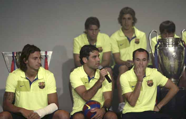 Ibrahimovic, Márquez e Iniesta
