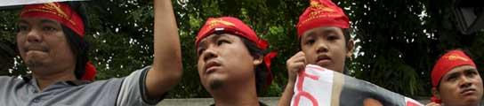Manifestación por Aung San Suu Kyi