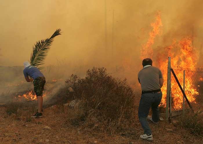 Incendios en Atenas