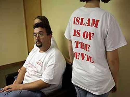 Camisetas contra el Islam