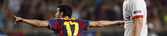 Pedrito consigue la Supercopa de Europa para el Barça en la prórroga  (Imagen: Philippe Laurenson / REUTERS)