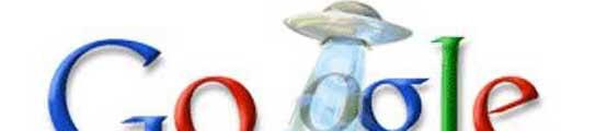 Un ovni se lleva una 'O' de Google, en homenaje a un videojuego japonés  (Imagen: GOOGLE)