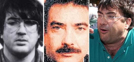 Evolución de los últimos 28 años (1980-2008) del aspecto del ex jefe de ETA Francisco López Peña 'Thierry'.