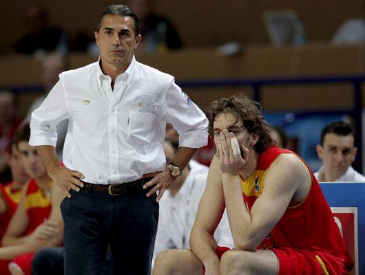 Sergio Scariolo y Pau Gasol