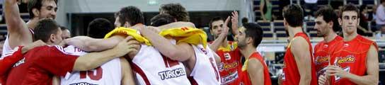 Selección española de baloncesto y Turquía