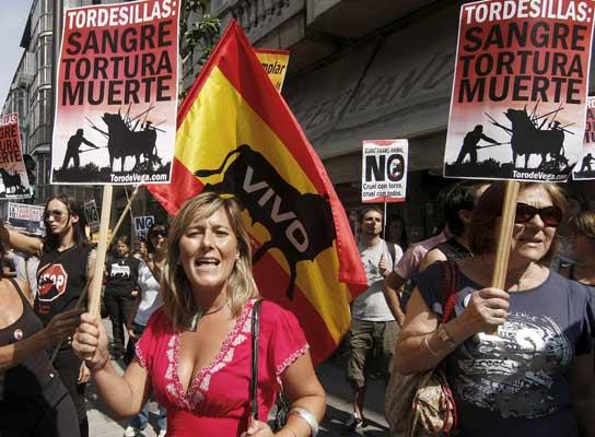 Manifestación contra el Toro de la Vega