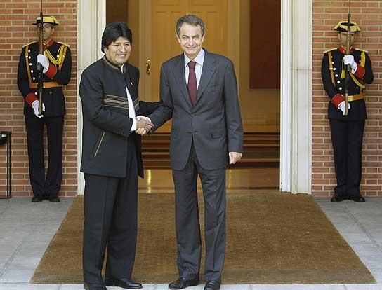 Evo Morales y José Luis Rodríguez Zapatero.