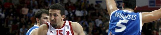 Turkoglu con Turquía y Bourousis con Grecia