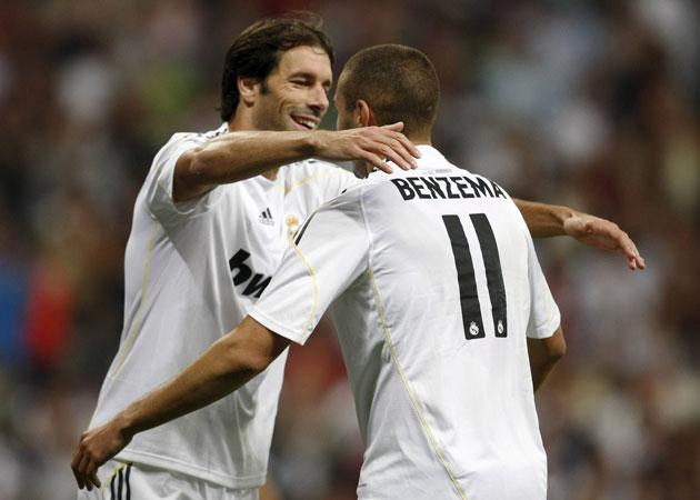 Karim Benzema y Ruud Van Nistelrooy