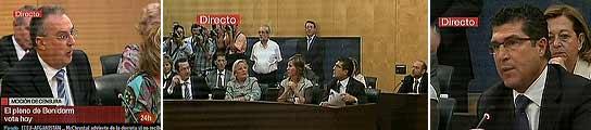 Benidorm vota la moción de censura que devolverá la alcaldía a los socialistas  (Imagen: Canal 24 horas)