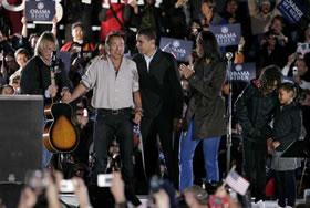<p>Bruce Springsteen con Obama - 280</p>