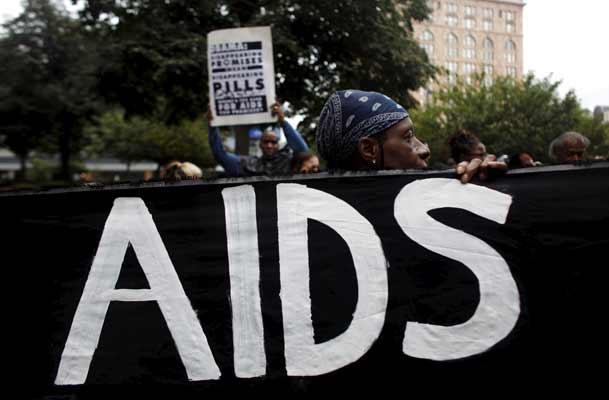 Manifestación contra el sida en Pittsburgh.