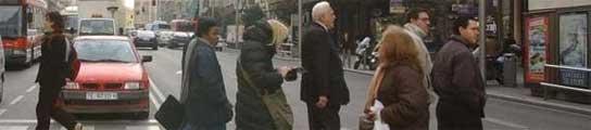 Tres de cada cuatro peatones atropellados en ciudad en 2009 cruzaba correctamente  (Imagen: EP)