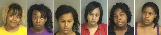 Las seis mujeres detenidas