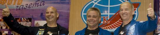 Guy Laliberte, Maxi Surayev y Jeffrey Williams