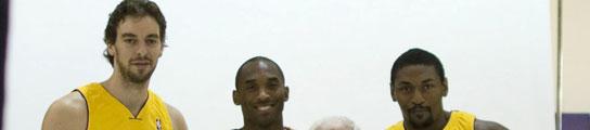 Gasol, Bryant, Artest y Jackson.