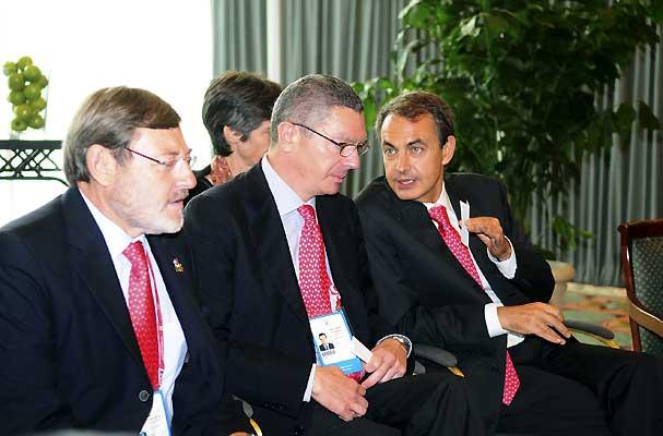 Zapatero, Gallardón y Lissavetzky