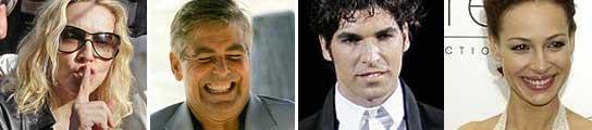 Clooney, Madonna, Cayetano y Eva