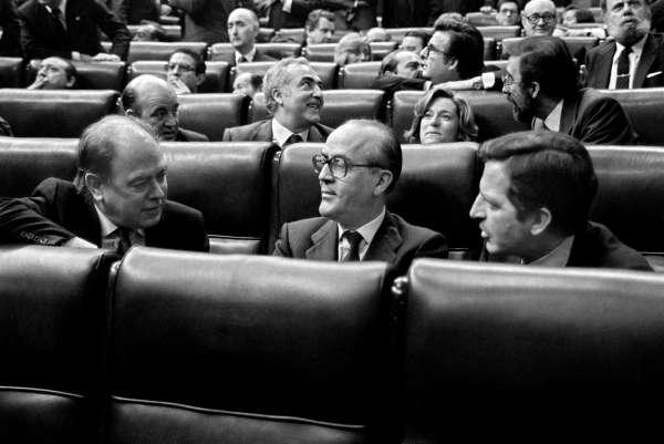 Jordi Pujol, Leopoldo Calvo Sotelo y Adolfo Suárez