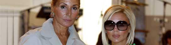 <p>Nati Abascal y Victoria Beckham</p>