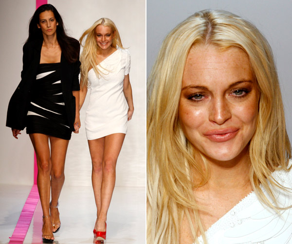 Lindsay Lohan, hermosa pelirroja en bikini azul