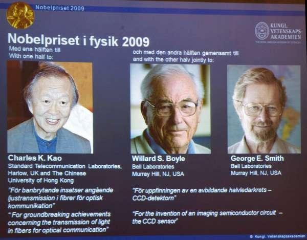 Premios Nobel de Físcia 2009
