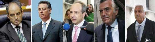 Políticos del PP salpicados por la trama corrupta de Correa.