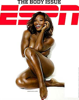 <p>Serena Williams en la portada de la revista ESPN</p>