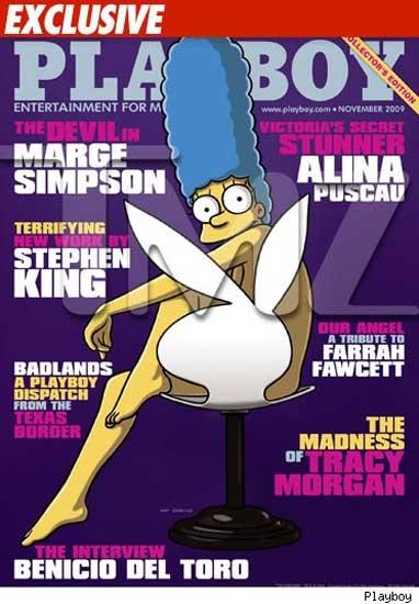 Marge Simpson en 'Playboy'