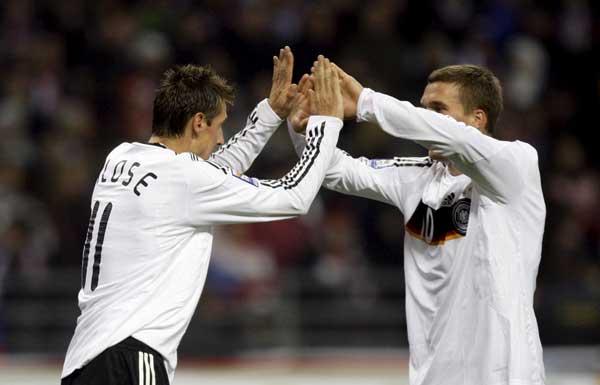 Klose y Podolski