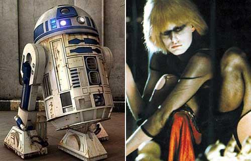 R2D2 y una replicante de 'Blade Runner'