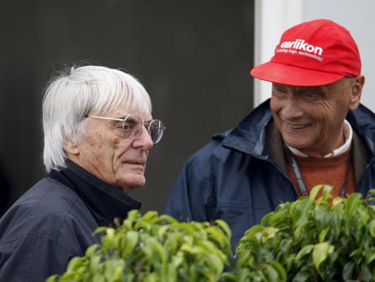 Bernie Ecclestone y Nikki Lauda