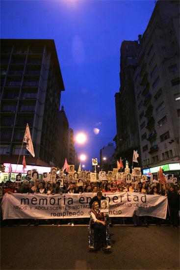 Manifestación en Montevideo