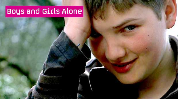 Boys and girls alone