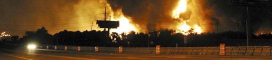 Incendio en una refinería de Puerto Rico