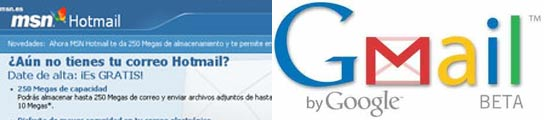 Hotmail y gmail