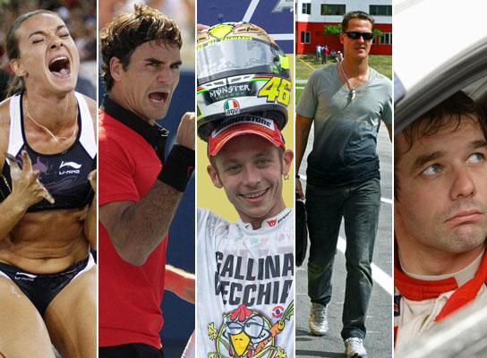 Isinbayeva, Federer, Rossi, Schumacher y Loeb
