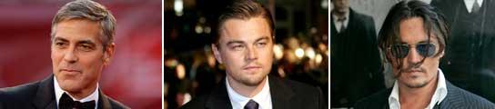 George Clooney, Leonardo Dicaprio y Johnny Depp