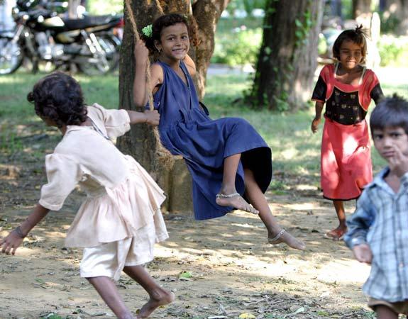 Niños en la India