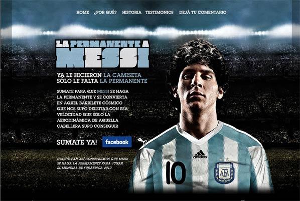 La web del cambio de peinado de Messi