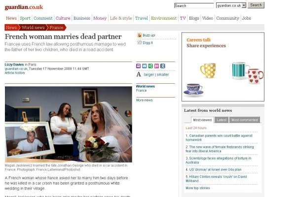 Se casa con un muerto