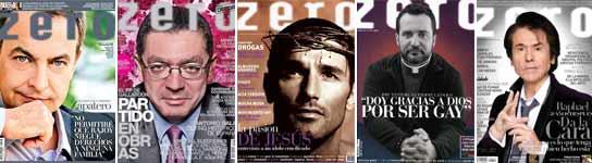 <p>Algunas de las portadas de la revista Zero.</p>