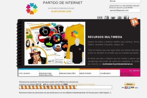 Web del Partido de Internet