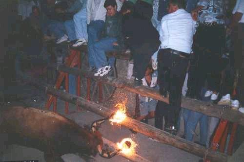 El 'toro embolao'